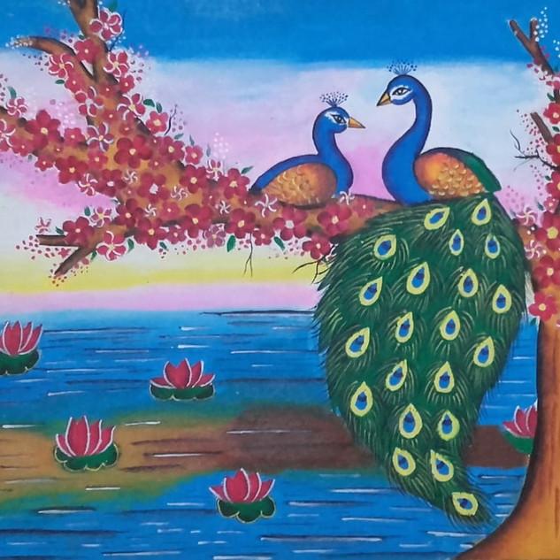 Lovely peacock by Shakthi Varsha