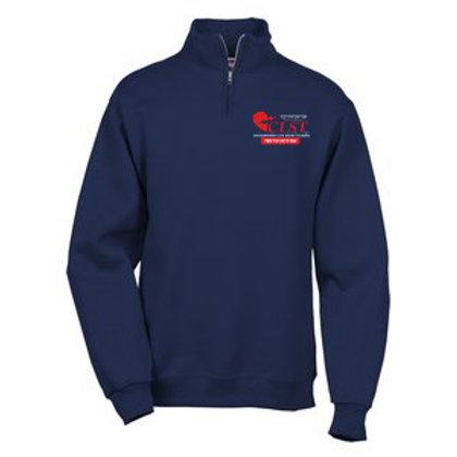 Unisex quarter-zip pullover