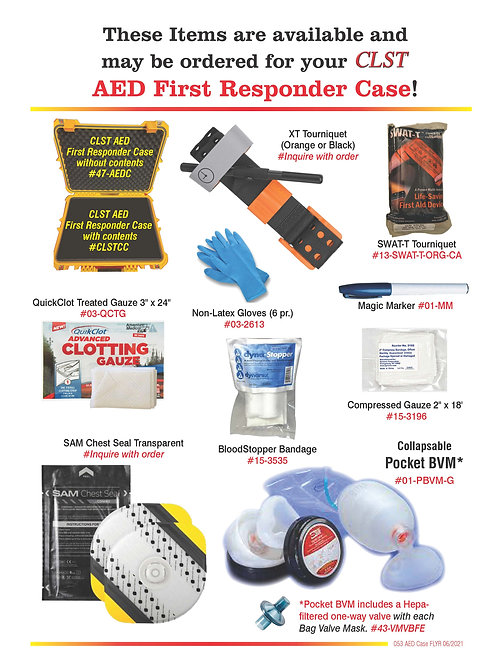 CLST AED case-CONTENTS ONLY