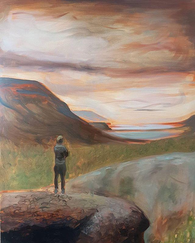 Hiker in Hvalfjord