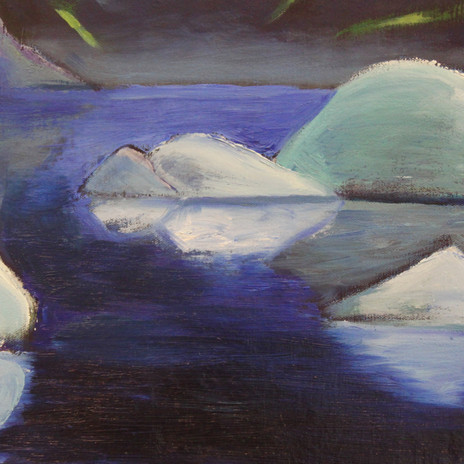 Northern lights and Icebergs (2019)