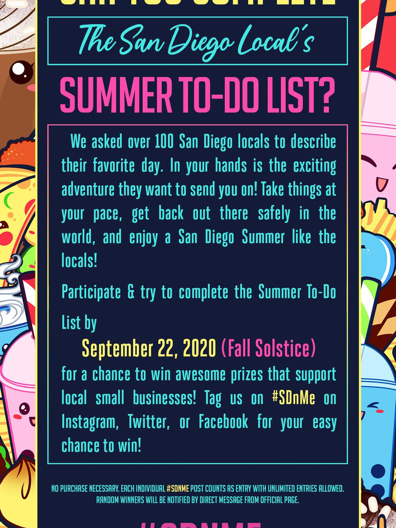Can you complete the summer to do list?