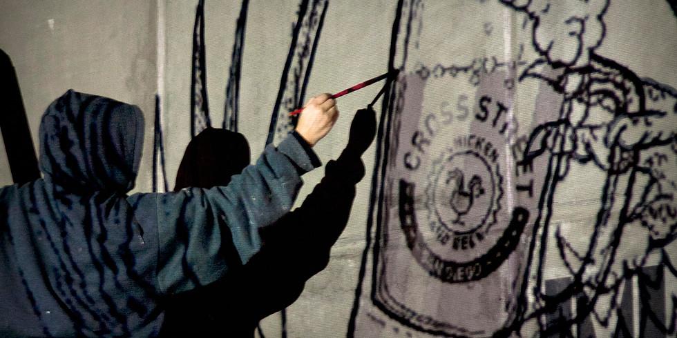 Convoy Live Mural Art Show at Cross Street Chicken!