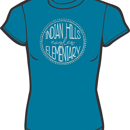 Indian Hills Circle Glitter Tee