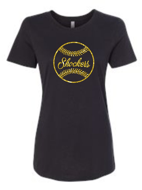 Shockers Black Glitter tee