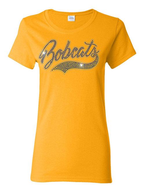 Bobcats rhinestone tee