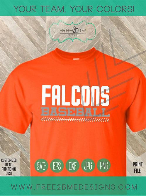 Falcons baseball laces