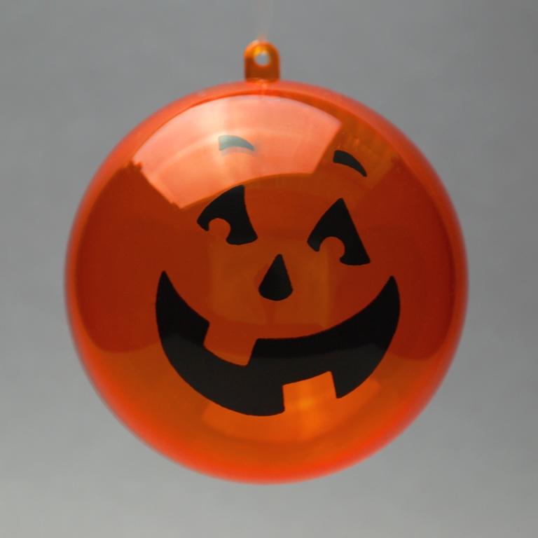 Acryl Kugel Helloween orange