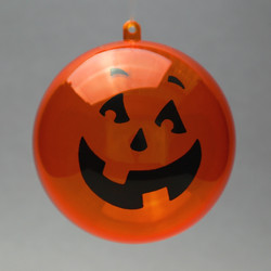 Acryl Kugel Helloween orange