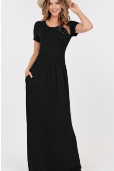 Empire Waist Maxi w/pockets