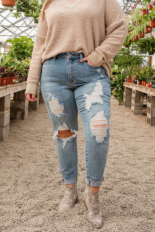 Hometown Girl Distressed Jeans