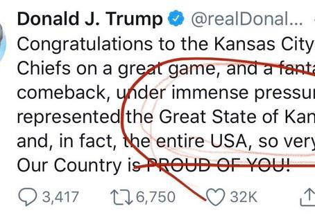 Трамп поздравил с победой в Суперкубке не тот штат
