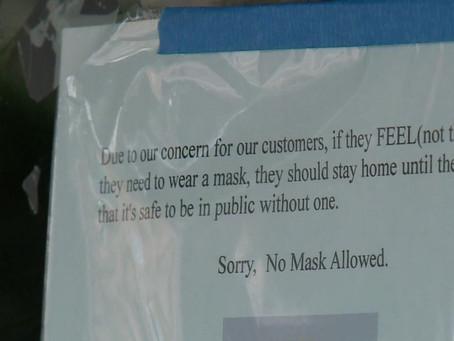«Извините, ношение маски запрещено!»