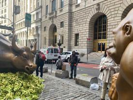 В Нью-Йорке напротив знаменитого быка установили 7-футовую статую гориллы