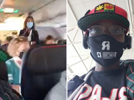 Активистка из Флориды была снята с рейса American Airlines за «оскорбительную» маску