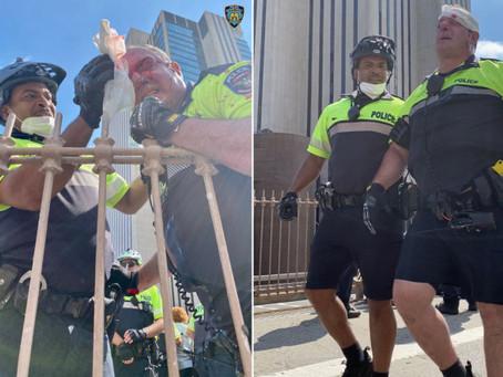 Мужчину, обвиняемого в избиении полицейских на Бруклинском мосту, выпустили без залога