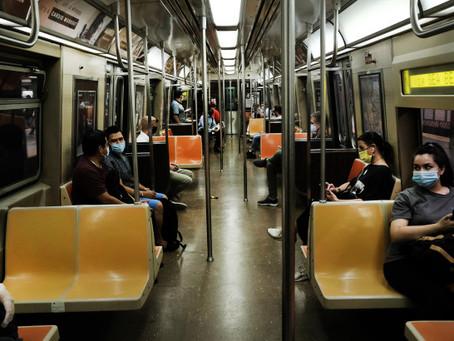 За отсутствие масок в общественном транспорте ньюйоркцев будут штрафовать