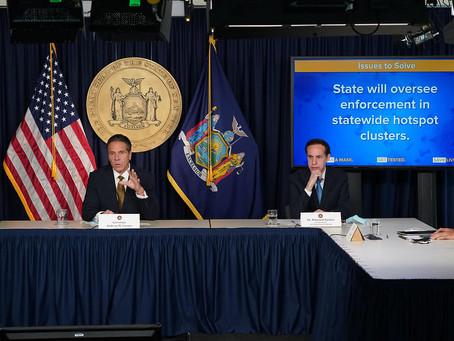 Губернатор Куомо приказал остановить работу в нескольких районах Нью-Йорка