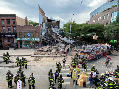 В Бруклине обрушилось трёхэтажное здание