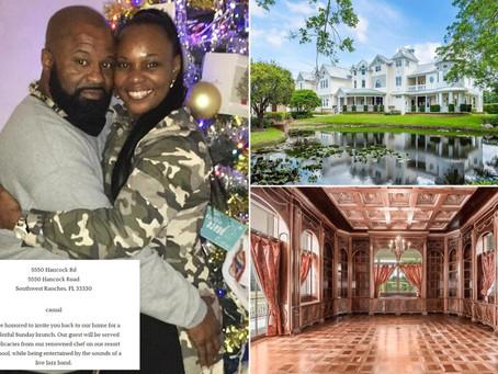 Пара из Флориды устроила свадьбу в роскошном поместье, думая, что оно пустое, но тут пришел хозяин