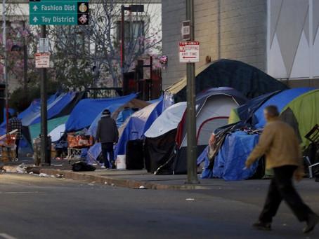 В Лос-Анджелесе наблюдается всплеск заражения Covid-19 в местах проживания бездомных