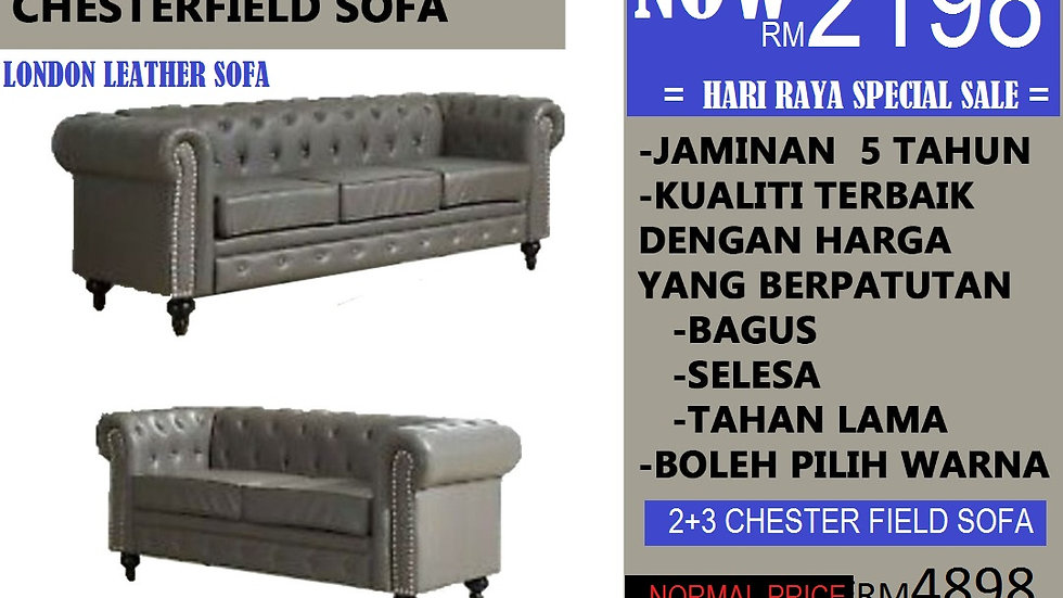 CHESTER-FIELD SOFA 2+3 SEATER RM2198