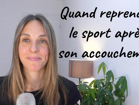 [VIDEO] Quand et comment se remettre au sport après son accouchement