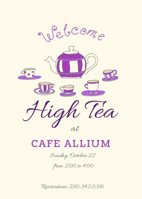 High Tea Dec 30th