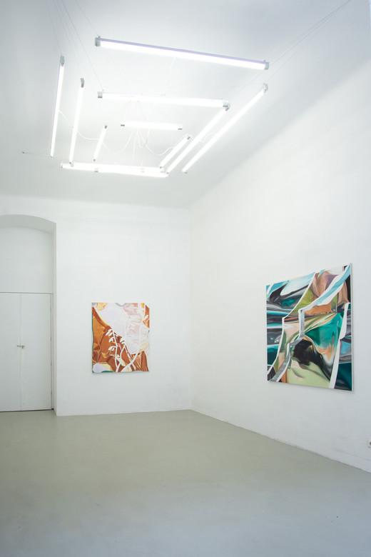 exhibition view SCENIC, LLLLLL Vienna, 2020, photo: Christian Prinz