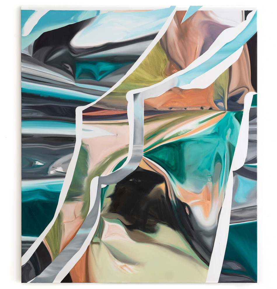 Flash, oil on canvas, 135 x 115 cm, 2020, photo: Christian Prinz