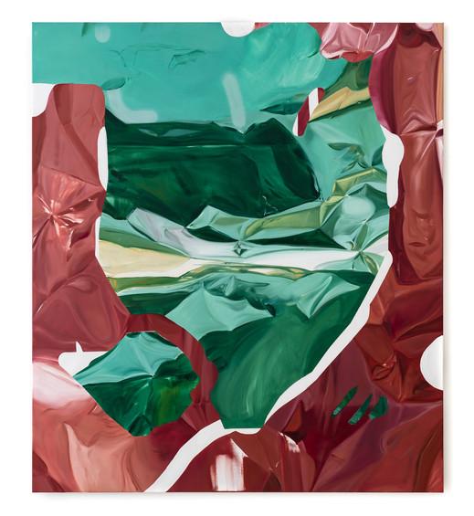 The calm before, oil on canvas, 160 x 140 cm, 2020, photo: Christian Prinz