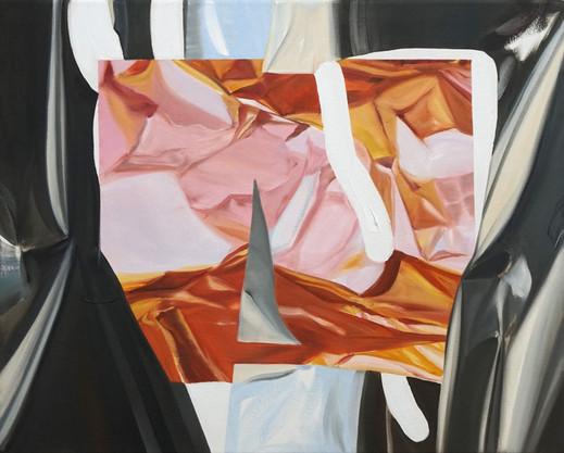Stone in focus, oil on canvas, 50 x 40 cm, 2020