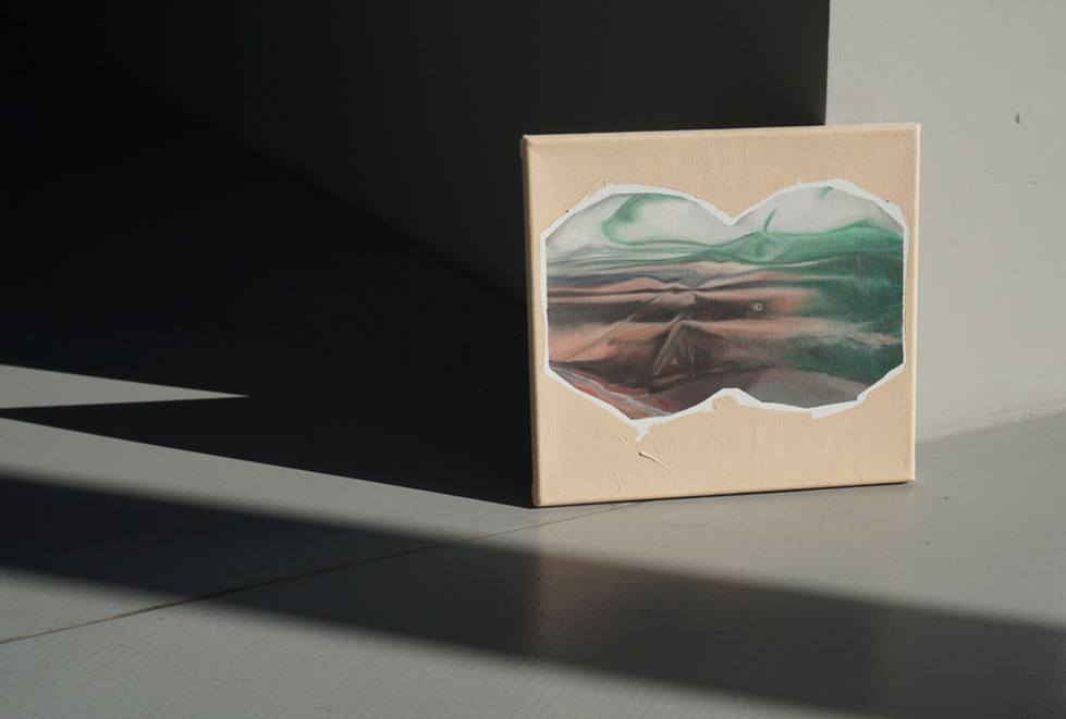untitled (from Binoculars), oil on canvas, 28 x 30cm, 2018