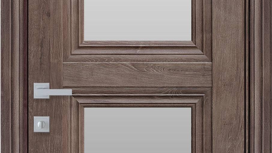 Двері Тесса-G ЕкоВуд Горіх Норвежський скло сатин