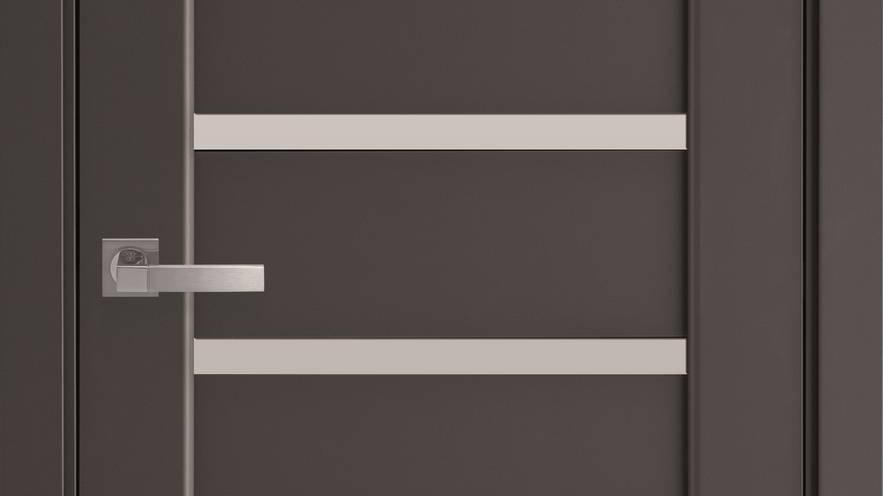 Двері Лінея ПВХ Premium Антрацит скло сатин