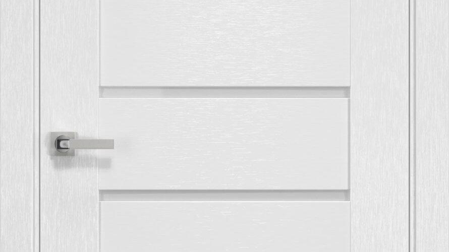 Двері Парма шовк х-білий скло сатин