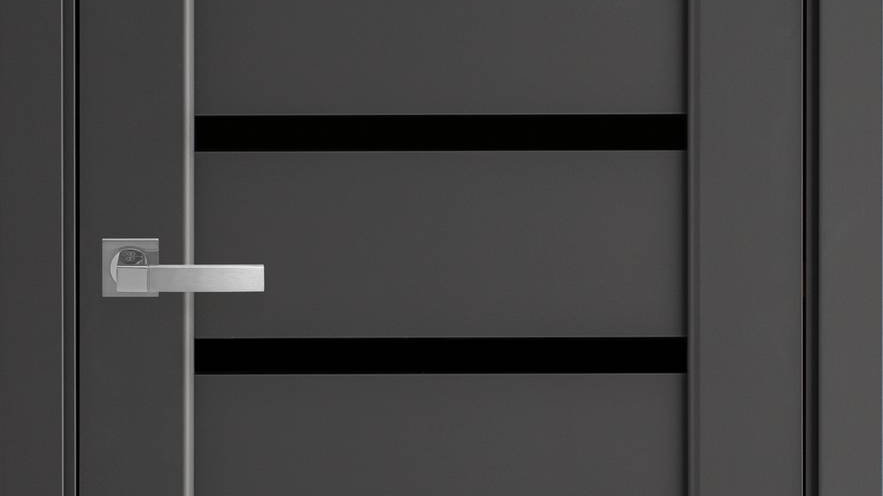 Двері Лінея Premium Антрацит чорне скло