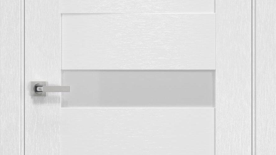 Двері Вена шовк х-білий скло сатин