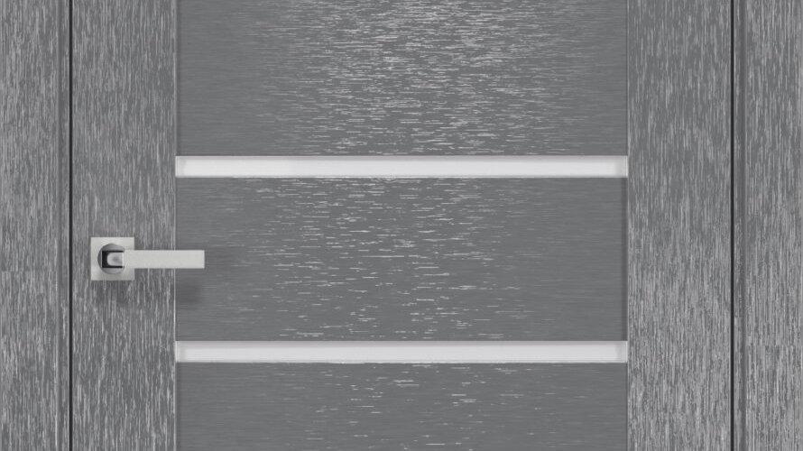 Двері Парма шовк х-сірий скло сатин