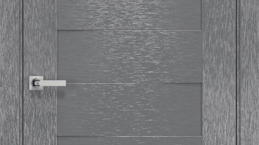 Двері Женева шовк х-сірий скло сатин