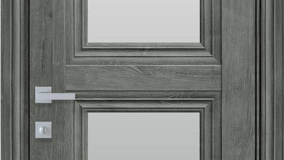 Двері Тесса-G ЕкоВуд Горіх Сибірський скло сатин