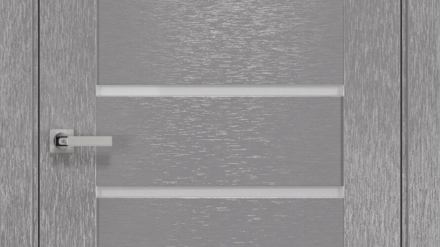 Двері Парма шовк х-хром скло сатин