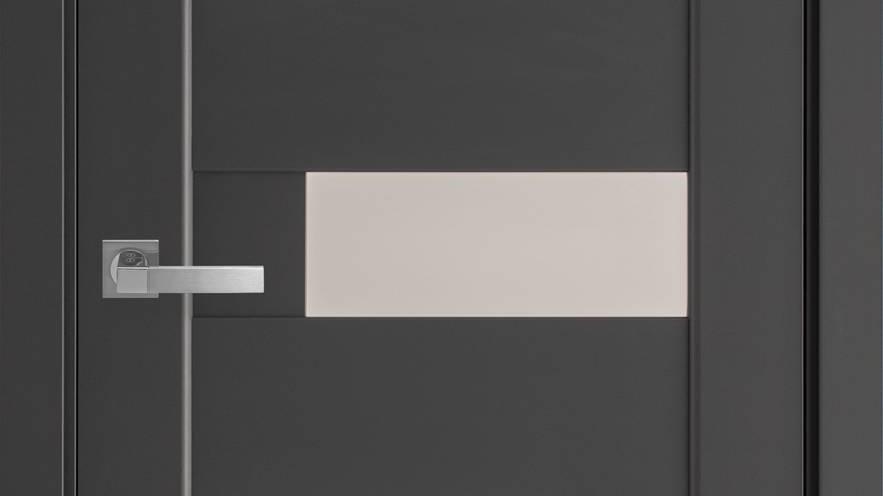 Двері Піана-G Premium Антрацит скло сатін