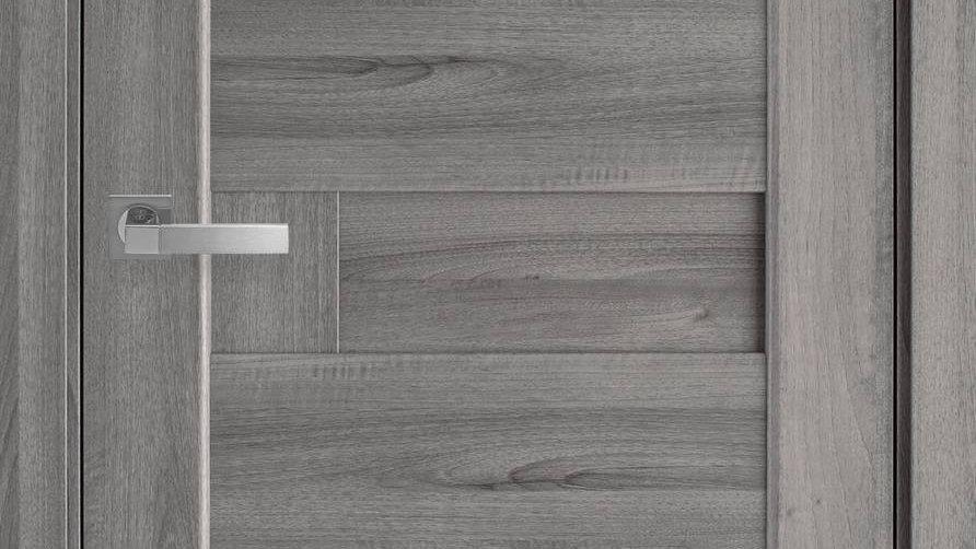 Двері Піана-А ПВХ DeLuxe Бук Попилястий глухе