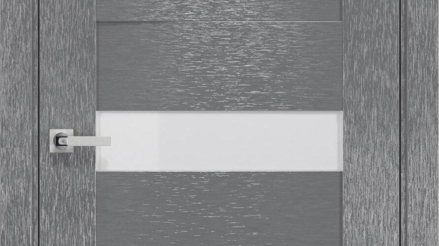 Двері Вена шовк х-сірий скло сатин