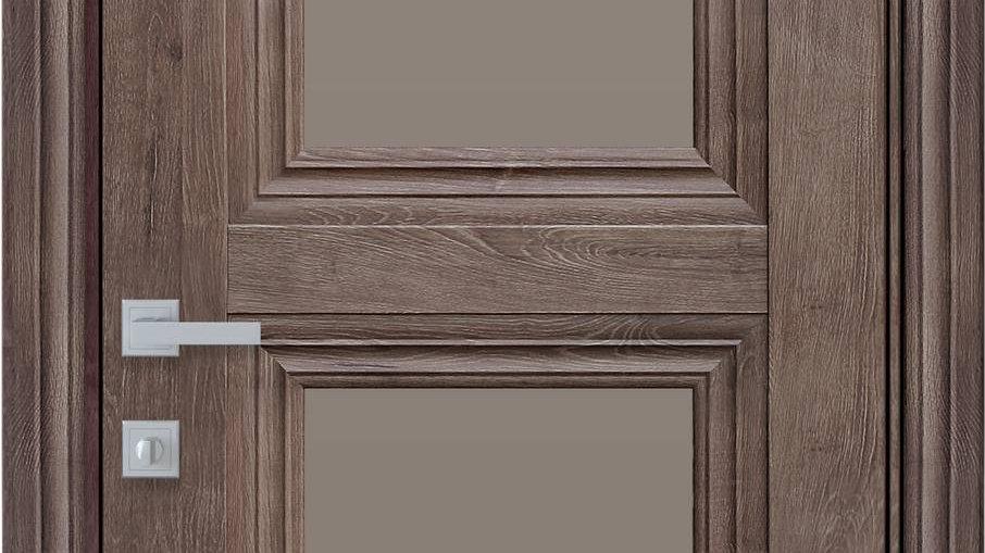 Двері Тесса-BR ЕкоВуд Горіх Норвежський скло бронза