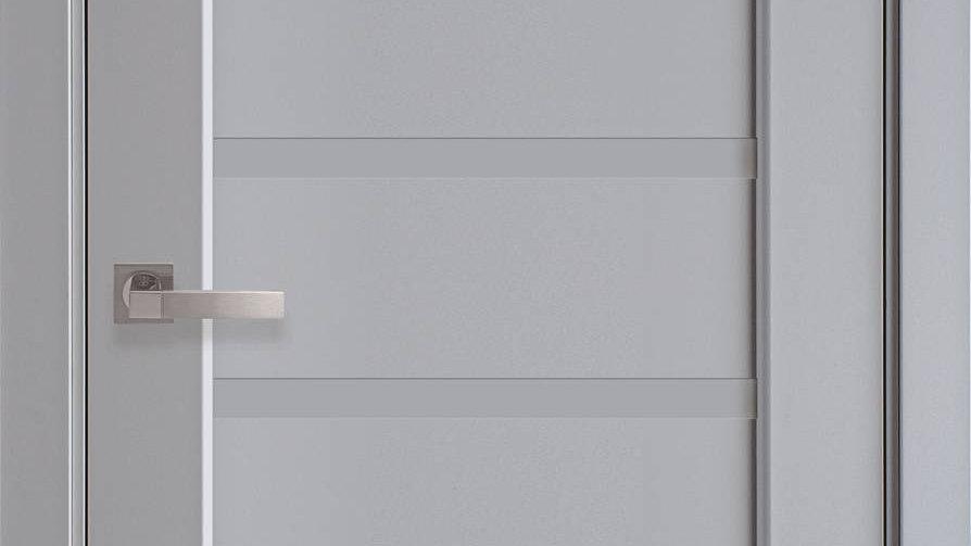 Двері Лінея  Premium Сіра Пастель  глухе