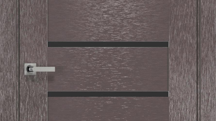 Двері Парма шовк х-мокко чорне скло