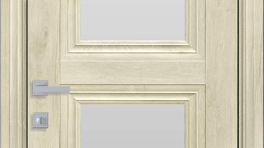Двері Тесса-G ЕкоВуд Горіх Гімалайський скло сатин