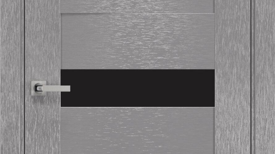 Двері Вена шовк х-хром  чорне скло